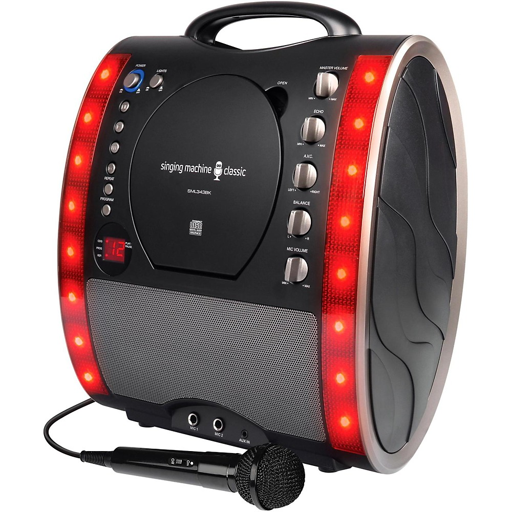 The Singing Machine SML343 Karaoke System Black 1410794684837