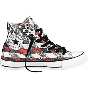 Converse Chuck Taylor All Star Hi-Top Washed Flag Print Mens Size 9