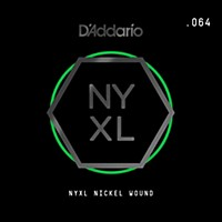D'addario Nyxl Single Wound 064 Electric Guitar Strings Nickel
