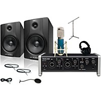 Tascam Us-2X2 Mxl 4000 And M Audio Bx8 Recording Package 1
