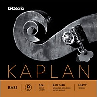 D'addario Kaplan Series Double Bass D String 3/4 Size Heavy