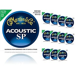 Martin Msp4000 Sp Phosphor Bronze Extra Light 12-Pack Acoustic Guitar Strings