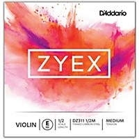 D'addario Zyex Series Violin E String 1/2 Size