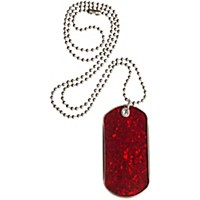 Drumtags Glass Glitter Red