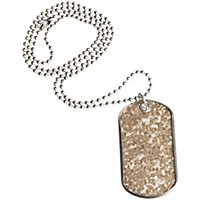 Drumtags Glass Glitter Silver