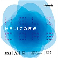 D'addario Helicore Orchestral Series Double Bass G String 3/4 Size Light