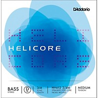 D'addario Helicore Hybrid Series Double Bass D String 3/4 Size Medium