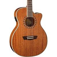 Washburn Wf19sce Mahogany Solid Top Folk Acoustic-Electric Guitar Natural
