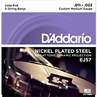 D'addario Ej57 Nickel Custom Medium 5-String  ...