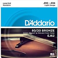 D'addario Ej62 80/20 Bronze Mandolin  ...