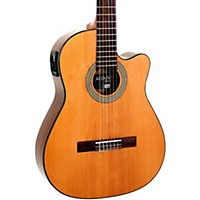 Giannini Gnfle Ceq N Cutaway Nylon String Acoustic-Electric Guitar Natural