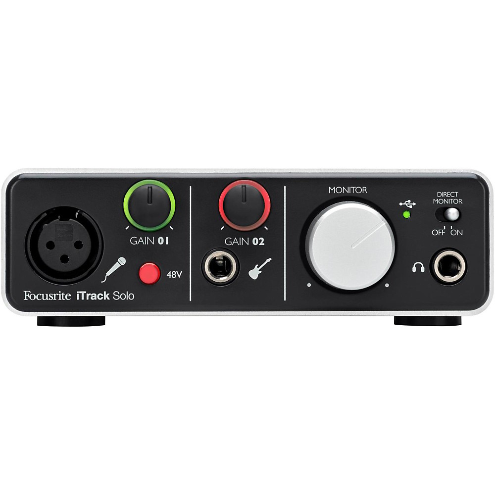 1. Focusrite Itrack Solo Lightning & USB Compatible Audio Interface