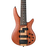 Ibanez Sr756 6-String Electric Bass Guitar Flat Natural