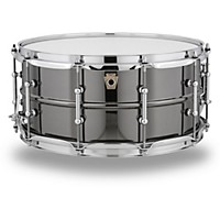 Ludwig Black Beauty Snare Drum With Tube Lugs And Supraphonic Snares 14 X 6.5 In.