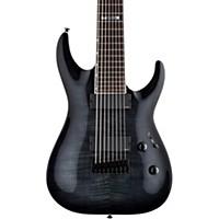 Esp Ltd H-408Bfm Eight-String Electric Guitar See-Thru Black