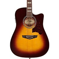 D'angelico Brooklyn Dreadnought Cutaway Acoustic-Electric Guitar Vintage Sunburst