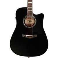 D'angelico Brooklyn Dreadnought Cutaway Acoustic-Electric Guitar Black
