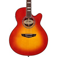 D'angelico Gramercy Sitka Grand Auditorium Cutaway Acoustic-Electric Guitar Cherry Sunburst