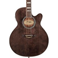 D'angelico Mercer Grand Auditorium Cutaway Acoustic-Electric Guitar Gray-Black