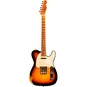 Fender Custom Shop Limited Edition Golden 1951 Heavy Relic Telecaster With Gold Hardware 2-Color Sunburst Maple Fingerboard