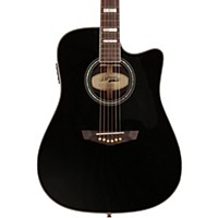 D'angelico Bowery Dreadnought Cutaway Acoustic-Electric Guitar Black