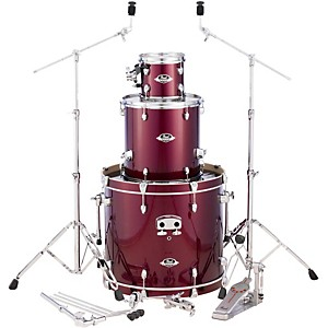 Pearl Export Double Bass Add-On Pack Wine Red