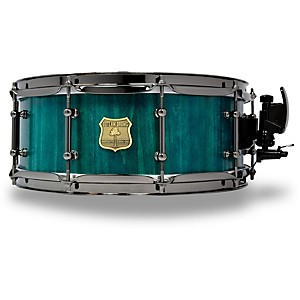 Outlaw Drums Poplar Stave Snare Drum With Black Chrome Hardware 14 X 5.5 In. Emerald Cove