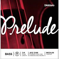 D'addario Prelude Series Double Bass D String 3/4 Size
