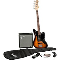 Squier Affinity Series Jaguar Bass Ss Pack With Fender Rumble 15W Bass Combo Amp Brown Sunburst