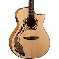 Luna Guitars Oracle Koi 2 Acoustic-Electric Guitar Natural