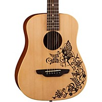 Luna Guitars Safari Fantasy Travel Acoustic Guitar Natural