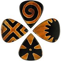 Timber Tones Tribal Tones Mixed Bag Of 4 Guitar Picks