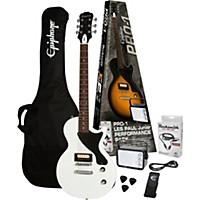 Epiphone Pro-1 Les Paul Jr. Electric Guitar Pack Alpine White