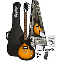 Epiphone Pro-1 Les Paul Jr. Electric Guitar Pack Vintage Sunburst