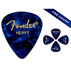 Fender 351 Premium Heavy Guitar Picks 144 Count Blue Moto