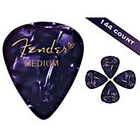 Fender 351 Premium Medium Guitar Picks 144 Count Purple Moto