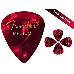 Fender 351 Premium Medium Guitar Picks 144 Count Red Moto