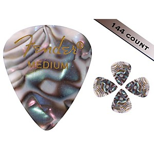 Fender 351 Premium Medium Guitar Picks 144 Count Abalone Moto