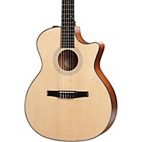 Taylor 314Ce-N Grand Auditorium Nylon String Acoustic-Electric Guitar Natural