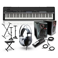 Yamaha Cp4 Stage 88-Key Stage Piano With Rpm3 Monitors, Stand, Headphones, Bench, And Sustain Pedal