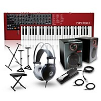 Nord Lead 4 Synthesizer With Rpm3 Monitors, Headphones, Bench, Stand, And Sustain Pedal