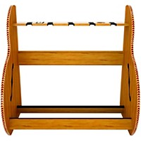 A&S Crafted Products Session Deluxe Guitar Rack Red Oak Short Size (5-7 Cases)