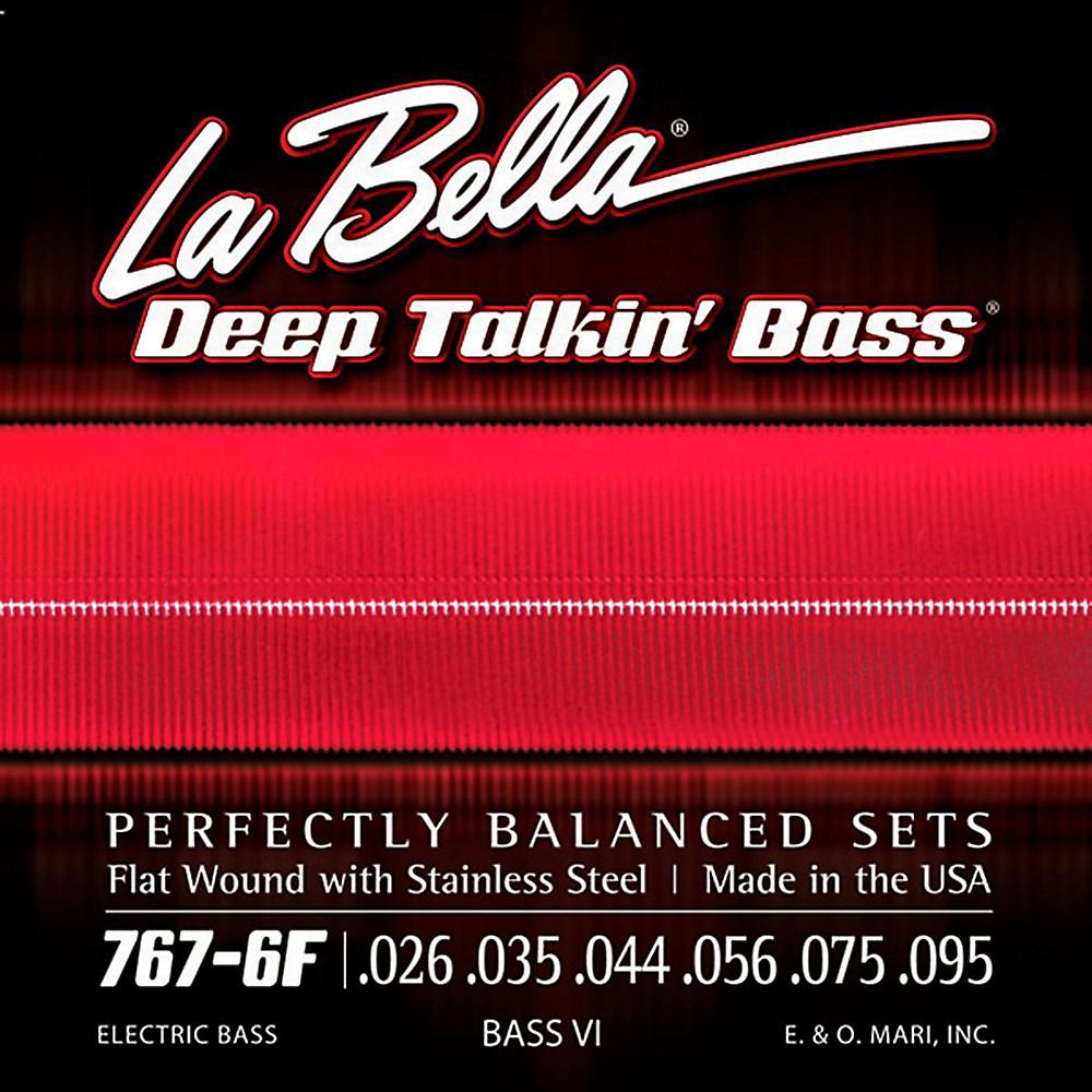 LaBella 767-6F Flat Wound 6-String Bass VI Strings 1430146864460
