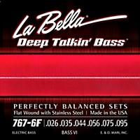 Labella 767-6F Flat Wound 6-String Bass Vi  ...