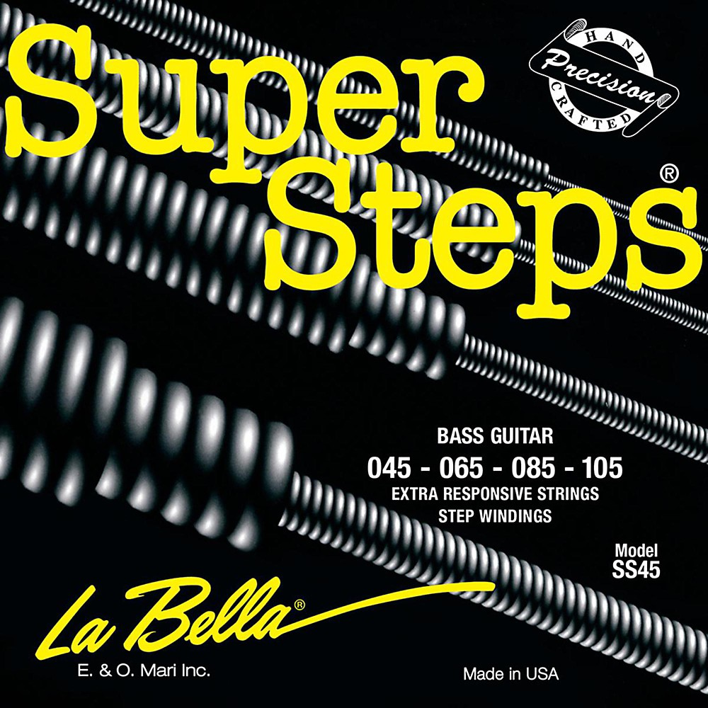 LaBella SS45 Super Steps Standard Electric Bass Strings 1430146864628