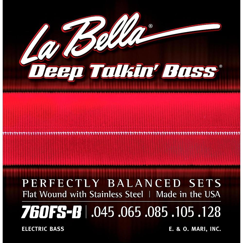 LaBella 760FS-B Deep Talkin' Bass Flat Wound Standard 5-String Electric Bass Strings 1430146864670