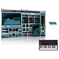 Akai Professional Mpk Mini Mk2 Controller With Free Software With Free Trackplug Aax Special Signal Processing Software
