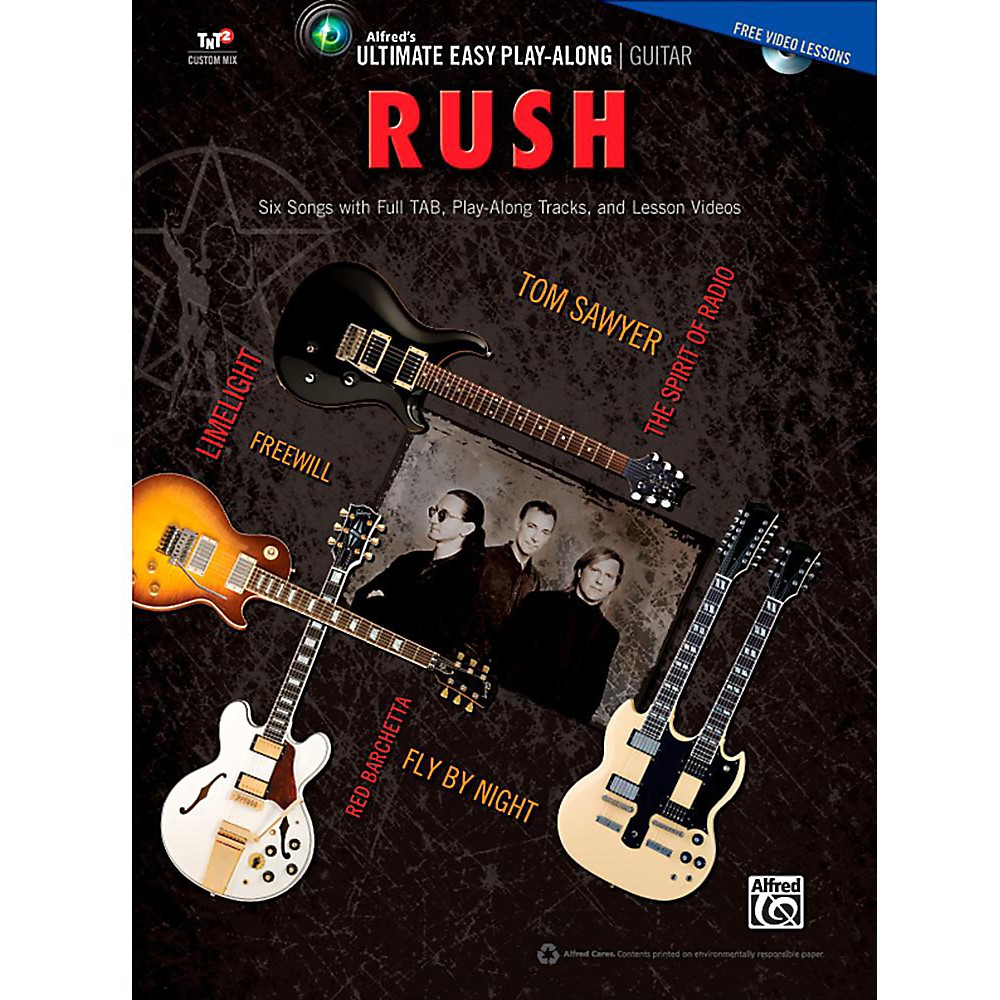 Alfred Ultimate Easy Guitar Play-Along: Rush - Easy Guitar TAB Songbook & DVD 1431357572148