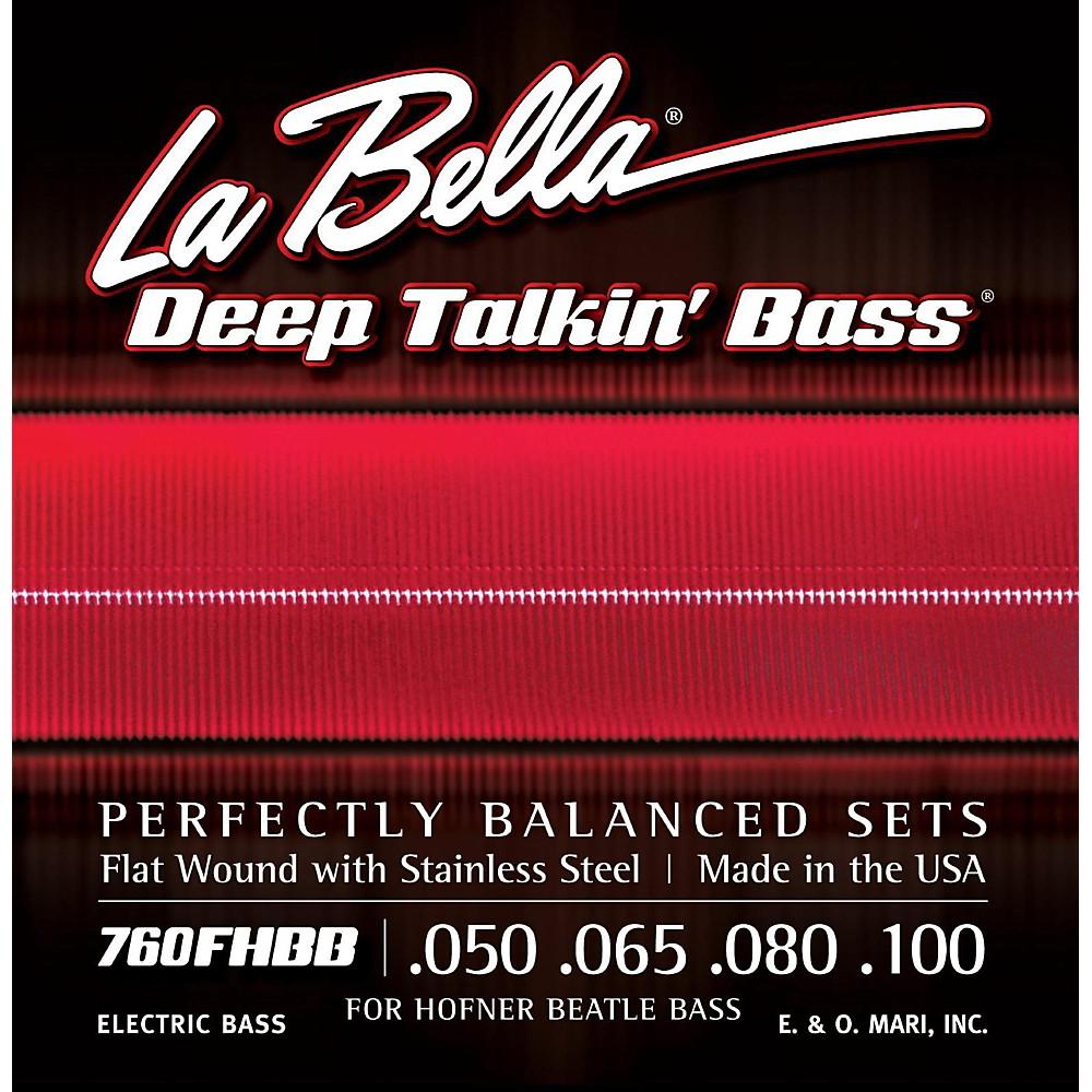 LaBella 760FHBB Beatle Bass Flat Wound Standard Electric Bass Strings 1408977823687