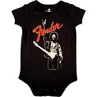 Fender Jimi Hendrix Peace Sign Onesie Black 6-12 Month